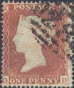 1854 1d Red SG17 Plate 167 'OD'